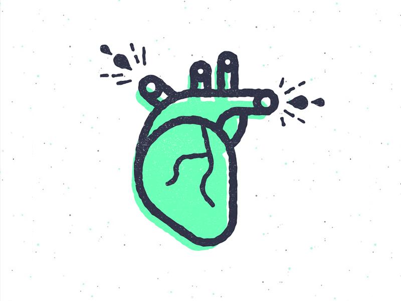 Heart dribb