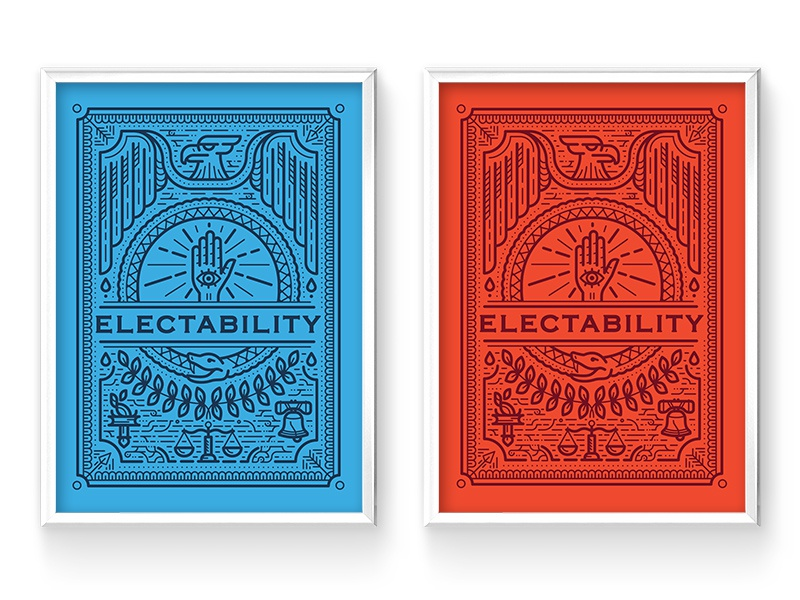 Electability Posters game card game posters election democrat republican