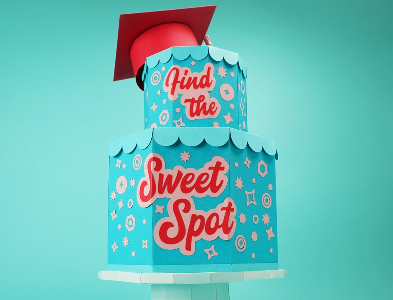Graduation Cake content graduation hat cake papercraft graduation social media content creation