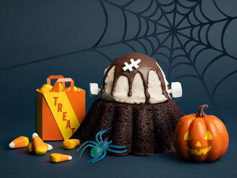 Chilis Molten Lava Cake | Halloween Edition spiderweb frankenstein pumpkin spooky halloween content creation spider festive art direction social media campaign campaign social media
