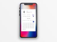 Calendar Note on iPhone X