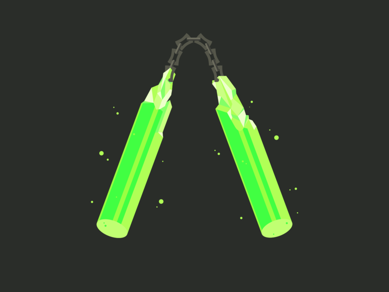 The Unstable One uranium nunchucks makeshift vector weapon armory