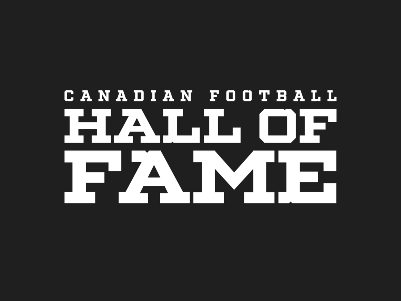 Canadian Football Hall of Fame hall of fame football cfl canadian vector branding creative design illustration