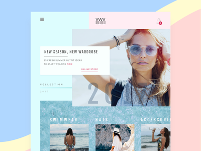 VWV   Online Store Layout website ecommerce webdesign ui layout fashion flat clean