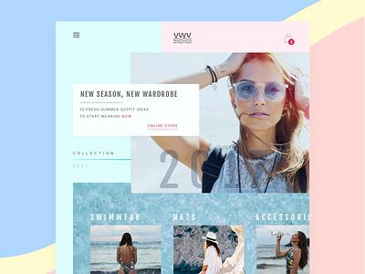 VWV | Online Store Layout  website ecommerce webdesign ui layout fashion flat clean