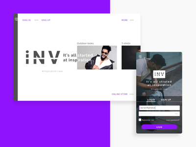 Inspiration View - Homepage ux ui design inspiration signup login android ios responsive page home ecommerce