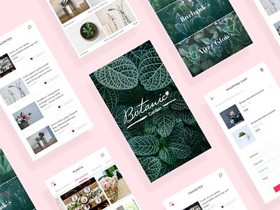 Botanic Garden   Shopping App ux ui minimal ecommerce design ios shopping app