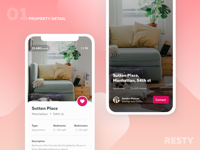 Property Detail mobile market resty iphonex detail property estate real app