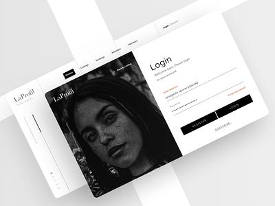 Login model subscribe web register landing clean form login