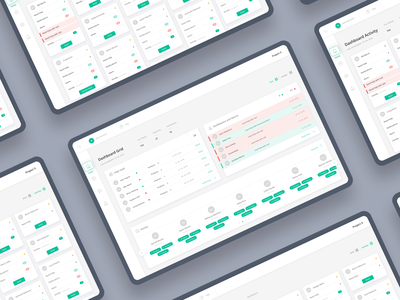 Consultant Dashboard ui ux wireframe clean feed activity alarm notifications grid layout concept app dasboard