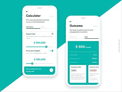 Mortgage Calculator ui  ux ux design mortgage calculator mobile app