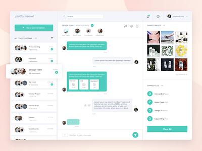 Platform Bowl ux  ui message chat design desktop shared conversation platform dashboad