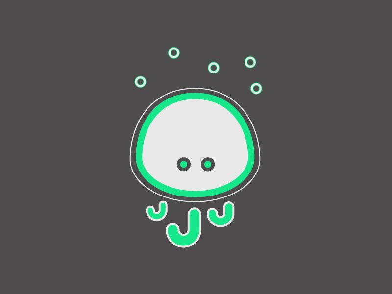 #Typehue letter J - Jellyfisch jellyfish letter j typehue