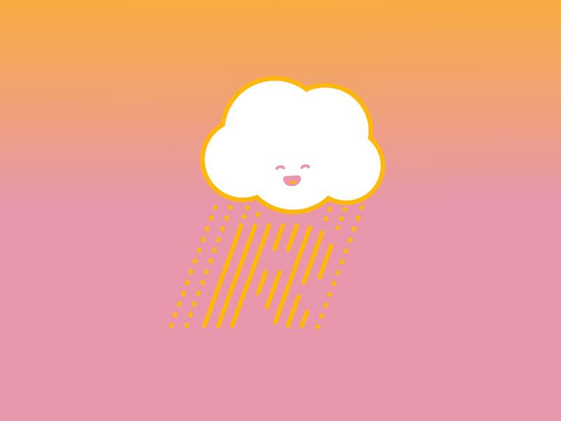 "#Typehue Letter ""R"" - Rain letter r vector kawaii typehue rain"