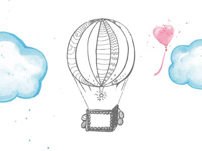 Hot Air Balloon for Childrens Book childrens book vector watercolor illustration