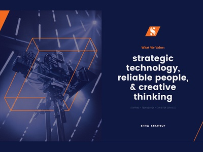 Show Me orange blue logo studio agency graphics design branding