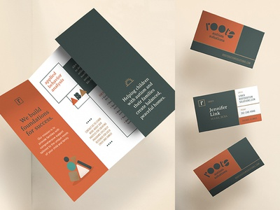 Roots Autism Solutions Branding Collateral stationery business cards brochure logo studio agency graphics design branding