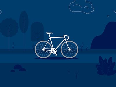Bike Security Illustration flat graphic blue bicycle bike illustration
