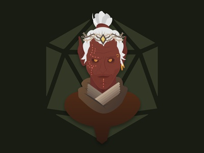 Drow Prince dnd woodelf elf elves dragon dungeon dungeonsanddragons people character design portrait vector