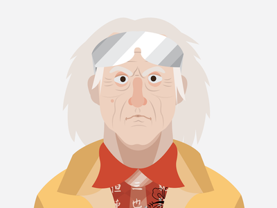 Emmet vector portrait bttf future the to back