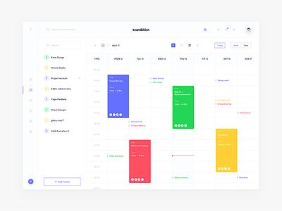 Teambition Design_02 ux ui ue teambition project news management dashboard blue app
