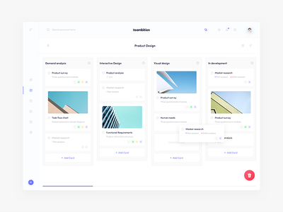 Teambition Design_03 ux ui ue teambition project news management dashboard blue app