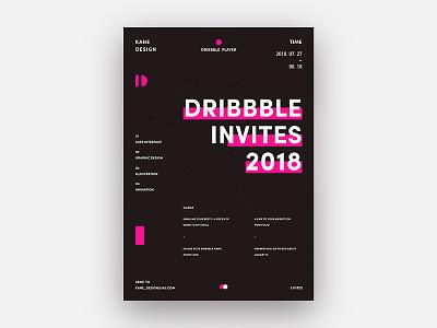 2 Dribbble Invites invites invite format flat dribbble app