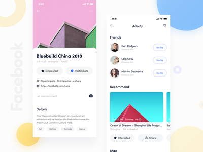 Facebook App_04 kane-d kane card facebook redesign facebook typography ux icon ui blue app