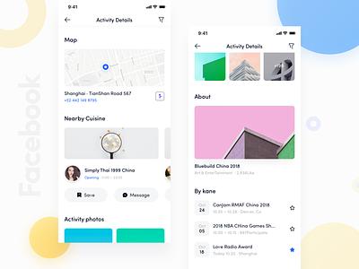 Facebook App_05 redeign facebook icon design ue ux blue ui app