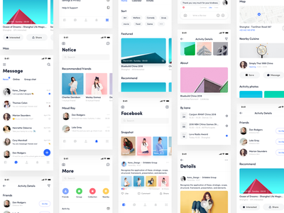 Facebook App_06 kane-d kane logo design whtie facebook typography icon ue ux blue ui app