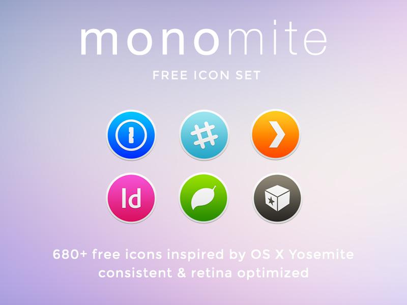 Monomite Icon Set monomite icon icons set pack yosemite mac replacement flat minimal free os x