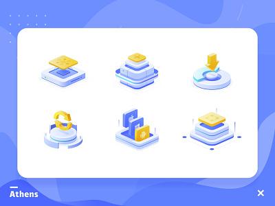 功能配图 Function diagram illustration 2.5d flat 科技 originality illustrations