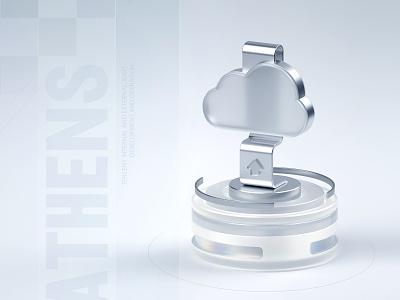 云平台备份 Cloud platform backup 云平台 backups cloud platform 云 illustration c4d 3d design 科技 originality illustrations