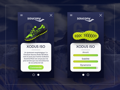 Saucony XODUS ISO - Web design shoes running mountain saucony ui sketch design ux