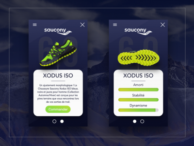 Saucony XODUS ISO - Web design shoes running mountain saucony ui sketch design ux