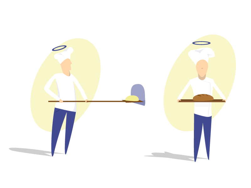 Baker illustrations - webdesign ai design flat flatdesign ui uidesign illustration baker bread webdesign