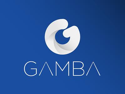 Gamba  LOGO graphiddesign chartegraphic adobe illutrator sound gradient gamba blue g company acoustic logo