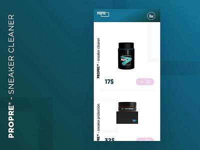 PROPRE® - mobile [video] ui ux web ecommence sneaker mobile uiux ux design uidesign