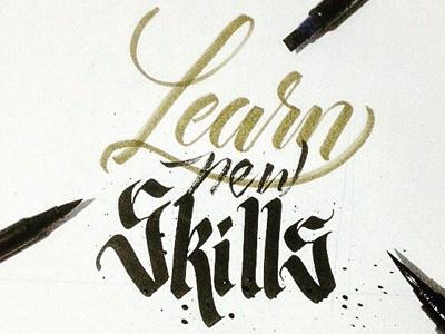 Learn new Skils handmade pen type handlettering brush lettering typography