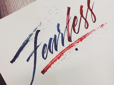 Fearless handlettering lettering type calligraphy pen rulling