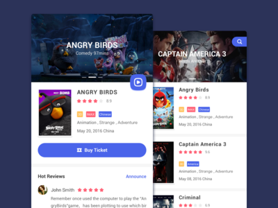 Movie App Design ticket ui app movie