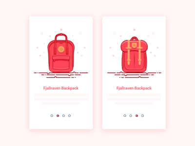 Wow,This is my favorite backpack. fjallraven pages guide app ui backpack