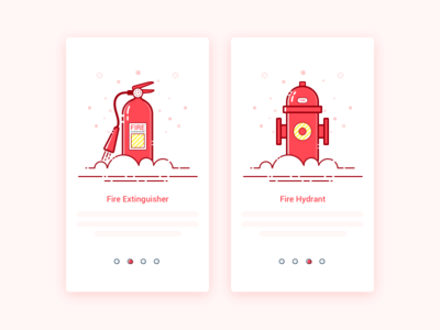 The engineer's home was burned down app pages guide ui hydrant extinguisher fire