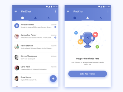 Making friends is very interesting android friends find chat app ui