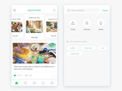 Enjoyfood App Design food enjoy ios ui design app
