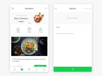 Enjoyfood App Design food enjoy ui ios design app