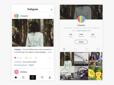 Instagram app redesign for iOS design ui picture ios for redesign app instagram