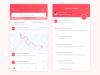 Express Tracking App Design