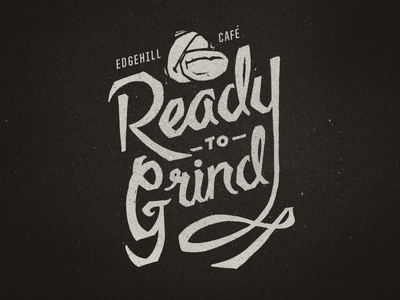 Grind Progress coffee typography lettering shirt script