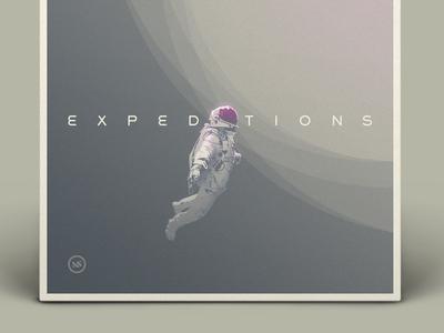 "DesignersMX ""Expeditions"" mix designersmx album cover illustration astronaut playlist nashville"